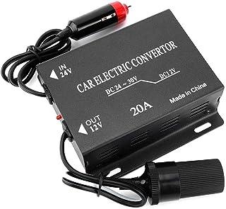 Ballylelly 12//24 V /à CA 220 V//USB 6 V Convertisseur de Courant de Voiture Adaptateur Mobile de Chargeur de Voiture Automatique avec Interface USB