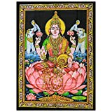 Indian Wall Art Hanging - Hindu Goddess Lakshmi by Mango Gifts