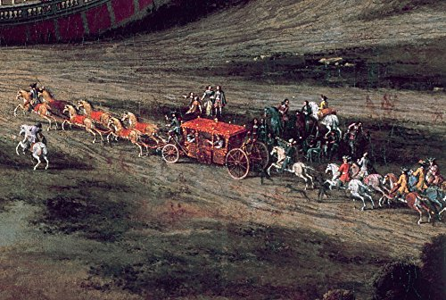 France Versailles 1668 Ncoach At The Palace Of Versailles Detail From A Painting By Pierre Patel 1668 Poster Print by (18 x 24)