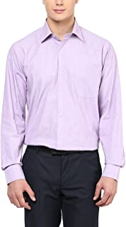 AMERICAN CREW Men's Full Sleeve Solid Shirt with Pocket (Dark Pink)