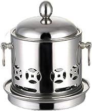 Shabushabu imitación de cobre acero inoxidable alcohol líquido Hot Pot compartida al aire libre Hornos, Cobre (Color : Silver)
