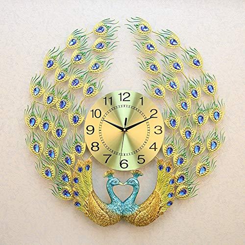 QCSMegy 60 x 60 cm reloj de pared de cuarzo electrónico moderno europeo lujo moda creativa personalidad artísticamente decorada sala de estar hogar