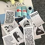 KinshopS 3 Rotoli/Set Stampa duratura per Carta Fotografica Adesiva Paperang per Stampante Fotografica