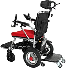 LJMGD Heavy Duty Electric Wheelchair with Headrest,Foldable Folding and Lightweight Portable Powerchair with Seat Belt,Electric Power Or Manual Manipulation,Adjustable Backrest and Pedal,Joystick