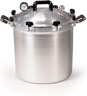 All American 941 Canner Pressure Cooker, 41.5 qt, Silver