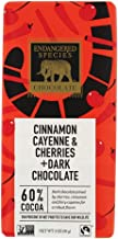 Endangered Species Natural Dark Chocolate Bar with Cinnamon Cayenne and Cherries, 3 Ounce - 12 per case.