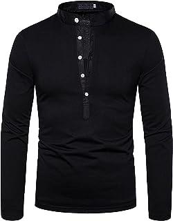 Heren Pullover Overhemd Klassieke Mode Effen Kleur V-hals Trend All-match Dagelijks Casual Standaard Opstaande Kraag Overh...