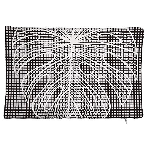 Maorongbu sostiene la funda de almohada doble con diseño de hojas en blanco y negro para cama o sofá para decorar en casa y cocina, hotel o firme, el mejor regalo del día de la madre, Navidad, cumpleaños para mujeres, papá, amigos.
