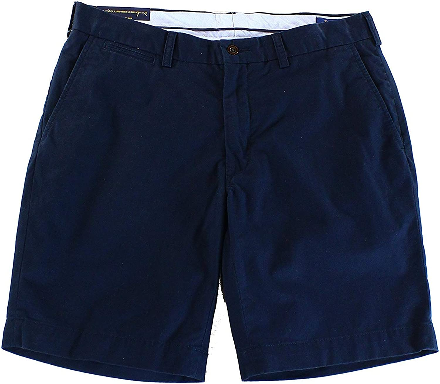 Polo Ralph Lauren Mens Classic-Fit Flat Front Casual Shorts, 48B, Navy