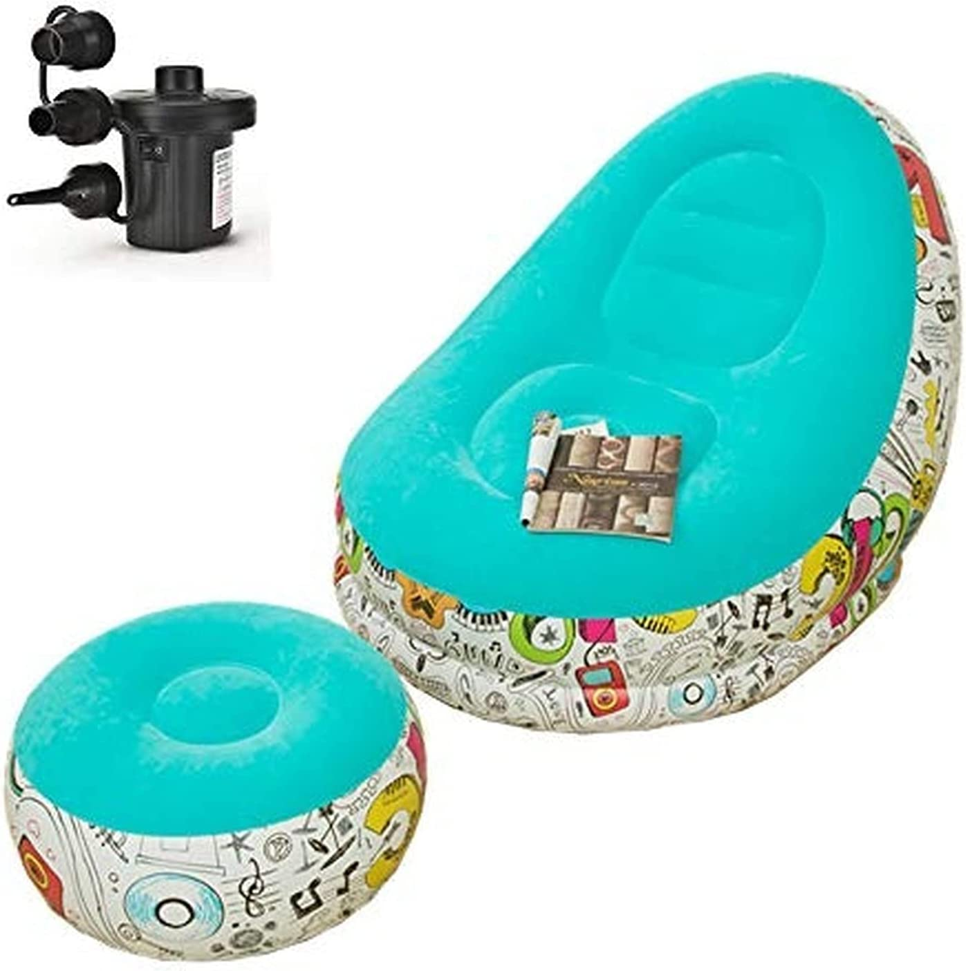 KYHS Inflatable Leisure Sofa Chair Footstool Now free shipping Folding and Lounger sale