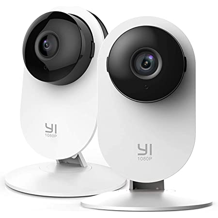 YI 2pc Home Camera, 1080p WiFi IP Security Surveillance System with 24/7 Emergency Response, Free Motion Alerts, Night Vision, Baby Monitor on iOS, Android App - Cloud Service Available OPEN BOX