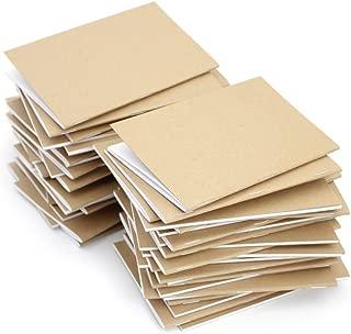 Kraft Notebook, 3.5 X 5.5 Inches, Set of 50, Bulk Notebooks, Kraft Brown, Blank Pages, Blank Cover, Small Kraft Journals Bulk
