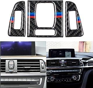 DDCHY 1 Set 3 STK. Innenverkleidung aus Carbonfaser Mittelentlüftungsrahmen für BMW F30 F31 F32 F33 F34 320i 428i 3 4 GT Series,A