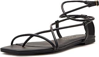 Katy Perry Women's The Luv Flat Sandal, Black, 9