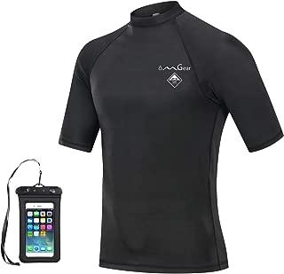 Rash Guard Swim Shirt Sun Block Short Long Sleeve Surf Tee Swimsuit Top