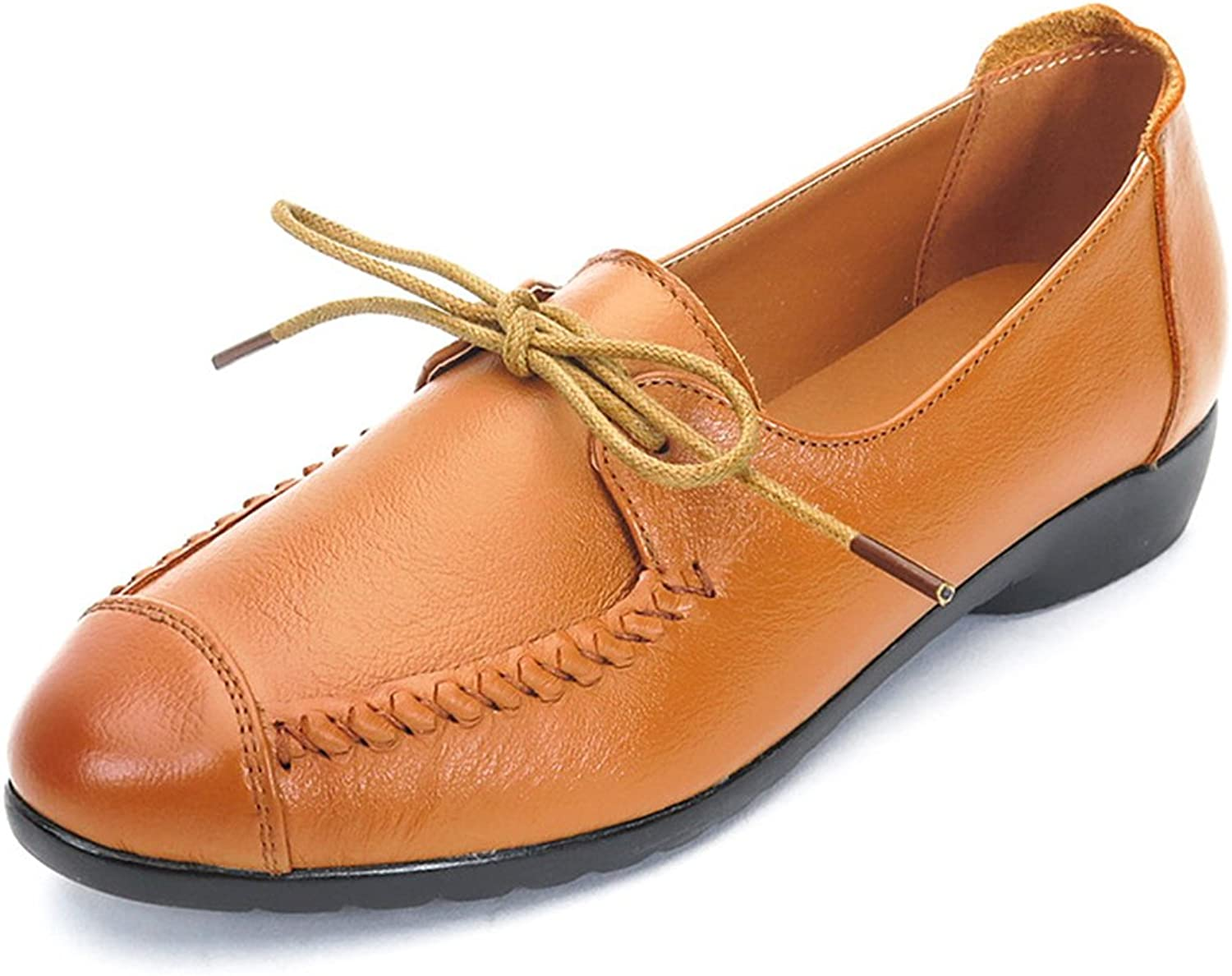 GilesJones Oxford Flats shoes Women,Casual British Moccasins Lace up Loafers shoes