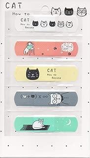 SUKRAGRAHA Cute Adhesive Bandages Lovely Cartoon Print Band-Aid Assorted (25 pc, Cat)