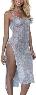 Xiang Ru Chic Perspective Sleeveless Beach Braces Skirt Sundress for Women
