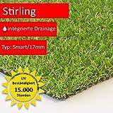 Steffensmeier Kunstrasen Rasenteppich Stirling Meterware | wasserdurchlässig UV-Garantie für Balkon, Terrasse, Garten |, Größe: 300x700 cm