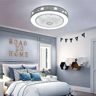 VOVOVO Ventilador de Techo con Luz y Mando a Distancia Ventilador Silencioso Lámpara de Techo LED Regulable Moderna Ventilador Invisible Cuarto de Estar Dormitorio Guardería Plafón Fan