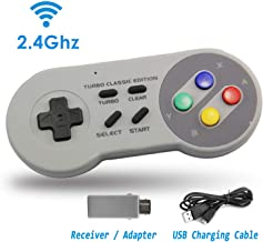 2.4 GHz Wireless Controller for SNES Classic Edition Rechargeable Mini Gamepad with Auto Connection Receiver