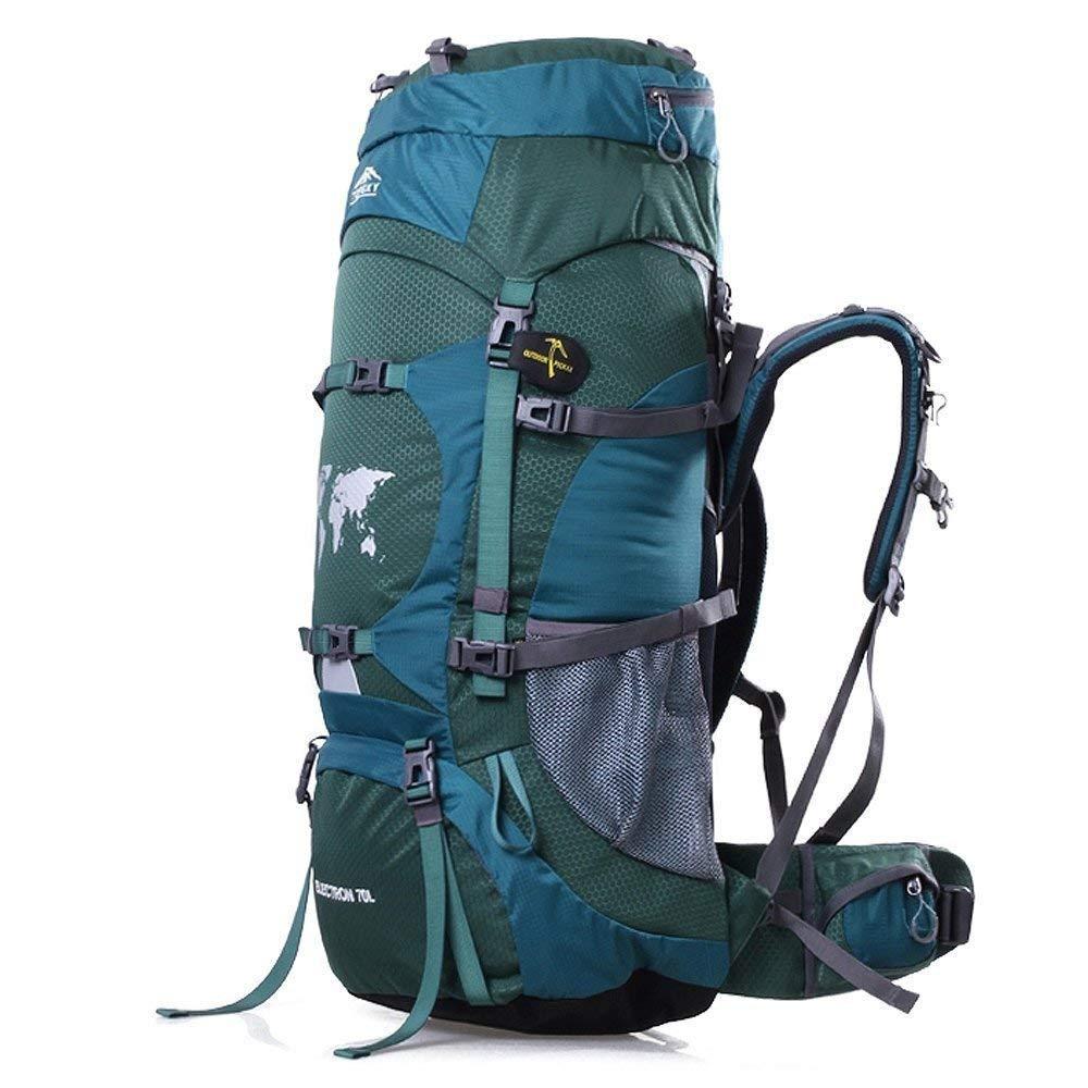 送腰包送防雨罩Topsky 户外运动登山包旅行背包男女双肩包防水旅游野营徒步包70L 30924