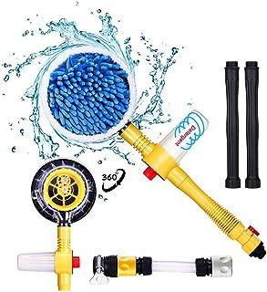 Fochutech Car Wash Brush, Car Cleaning Kit, 360° Spin Mop, Microfiber CleaningBrush, Detachable & ExtendableScrub Brush, Garden Hose Spray Nozzle Spray Gun For Car Home Cleaning & Garden Use