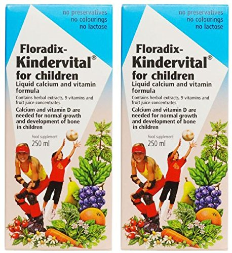 (2 PACK) - Salus Kindervital Childrens Vitamin & Mineral Syrup | 250ml | 2 PACK - SUPER SAVER - SAVE MONEY