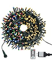 Green Convenience 105FT 300 LEDs Color Changing String Lights End to End Expandable Waterproof Decorative Fairy Lights, 9 Lighting Modes, Indoor & Outdoor Light For Christmas Tree, Wedding, Party, Patio, Garden