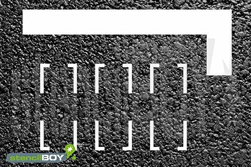 L-Linienschablone zur Parkmarkierung