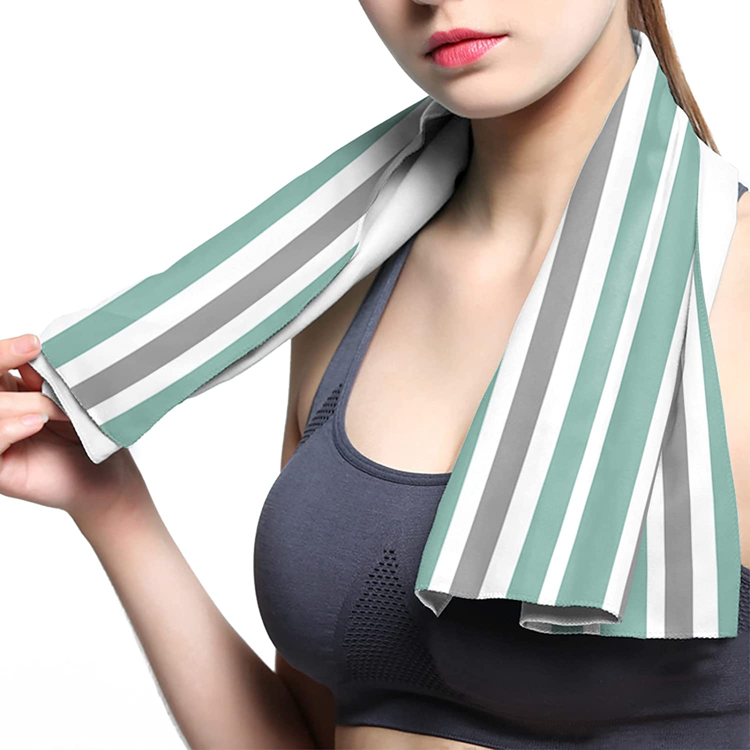 ArneCase Cooling Towel Breathable Microfiber Max 84% Superior OFF Chilly Towels Green