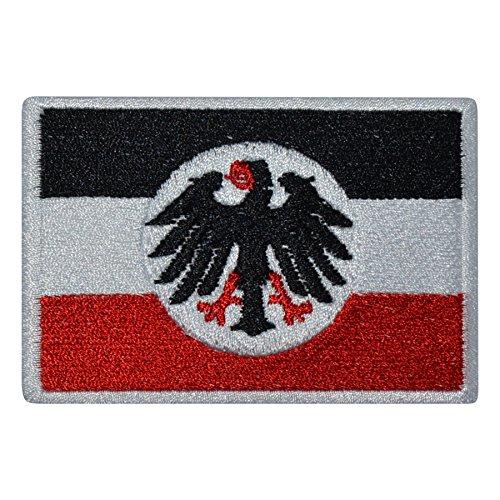 Reichsdienstflagge Flagge bestickt Patch Badge Fahne (weiße Umrandung)