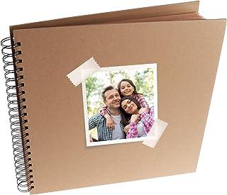 MP - Álbum Scrapbooking, Portada Gruesa, 20 Hojas Cuadradas, Color Kraft - 30x30 cm