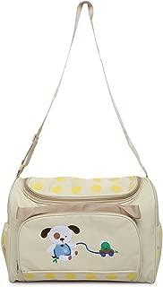 Offspring Multifunction Shoulder Diaper Bag, Bear Print (Beige)