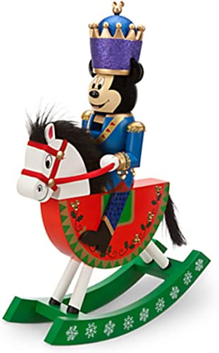 Disney Parks Mickey Mouse Nutcracker Rocking Horse Christmas Holiday Figurine by Disney