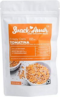 SnackAmor Healthy and Natural Crispy Oats Tomatina, Pack of 2, 100g Each
