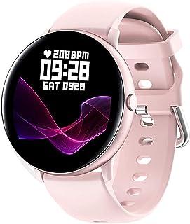 Smartwatch,Reloj Inteligente para Mujer con Termómetro,Monitor de Frecuencia Cardíaca,Pulsómetro,Recordatorio del Ciclo Fi...