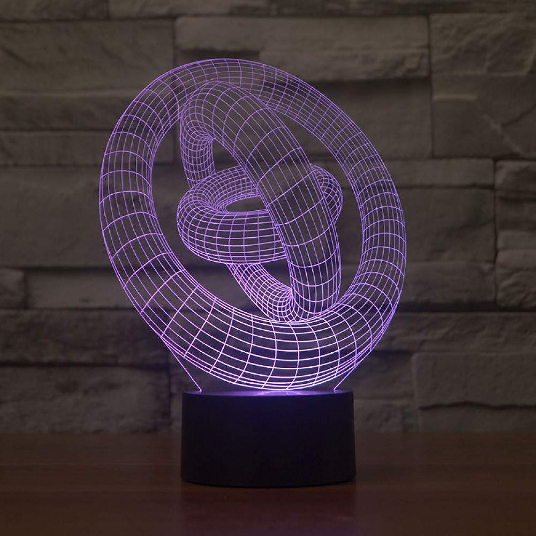 Fdlzz Geführte Aufladungsnachtlicht-Note Acryl 3D Leuchten 3D führten Nachtlicht,Berührungsschalter
