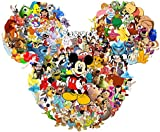 Disney Character Collage - For Light-Colored Materials - Iron On Heat Transfer 8' x 6.5'