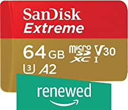 SanDisk 128GB Extreme microSD UHS-I Card with Adapter - U3 A2 - SDSQXA1-128G-GN6MA (Renewed)