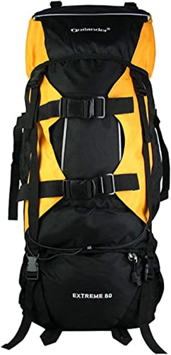 XRPXRP 80L Durable Unisex Mountaineering Backpack Outdoor Camping Equipment Waterproof Nylon Backpack