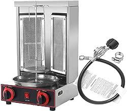 Wadoy Rotisserie Shawarma Machine,Kebab Machine with 2 Burner, Electric Rotating Roaster Baking Machine, Grill Rotisserie Doner Kebab Machine for Chicken,Gyros, Sausages, Poultry