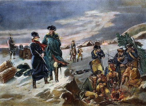 Posterazzi Ngeneral George Washington With Lafayette At Valley Forge 1777. Line Engraving 19Th Century. Poster Print by, (18 x 24)