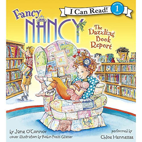 Fancy Nancy: The Dazzling Book Report audiobook cover art