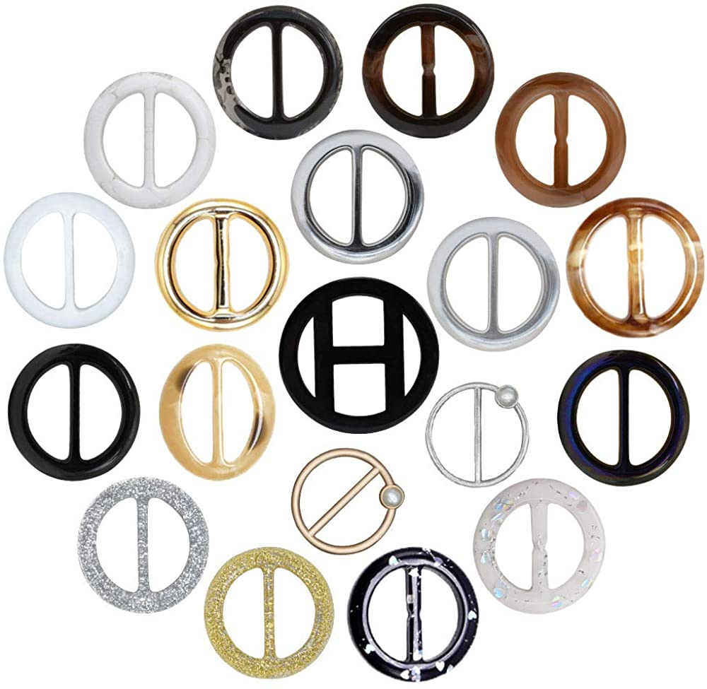 Ranking TOP2 HOSTK 30pc Plastic Some reservation Resin metal Tee Ring Clothes Clips Shirt Belt