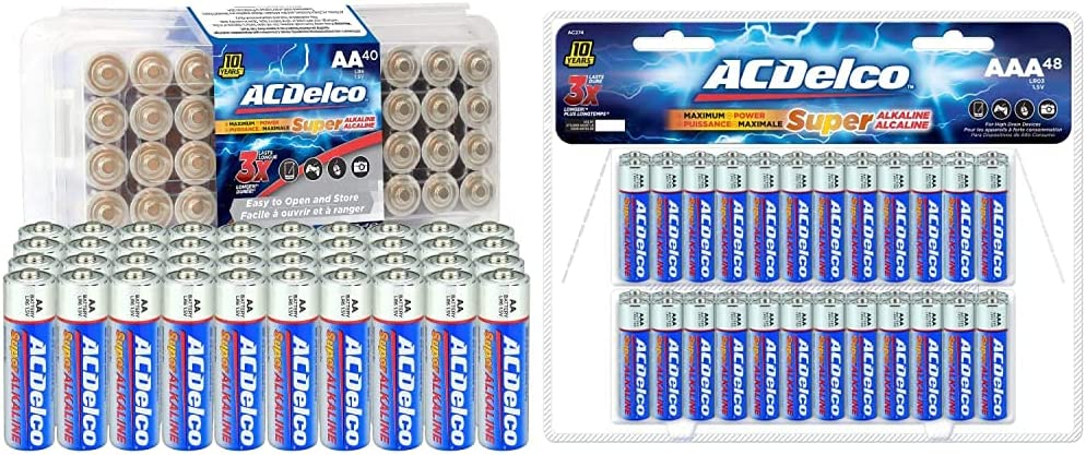 ACDelco 40-Count AA Popular Batteries Maximum Power Super Free shipping Alkaline Batt