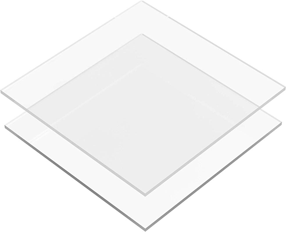 6 50 Inch Buttercream Acrylic Square Cake Disks Set Of 2 0 18 Or 3 16 Inch Thick Great For Serving Bake Goods And Art Craft Project
