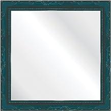 Espelho Brilho Rococo Azul 31X31cm Kapos Azul