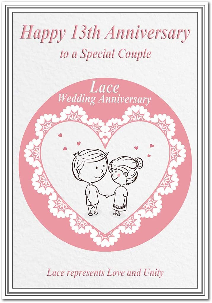 8th Wedding Anniversary Cards Lace 8 Thirteen Year Happy Unique