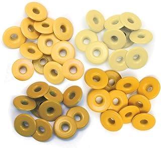 We R Memory Keepers 41587-9 Lot de 40 œillets et rondelles Jaune